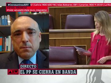 El portavoz adjunto del PSOE en el Congreso de los Diputados, Rafael Simancas
