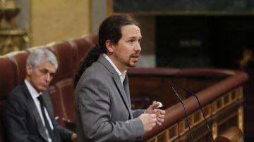 Pablo Iglesias, en el Congreso