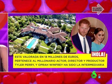Lorena Castell analiza la mansión de Meghan Markle y el príncipe haRRY