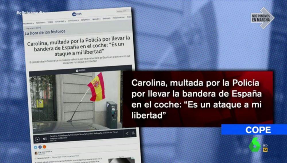 No, la Policía no multa o identifica a las personas que llevan la bandera de España
