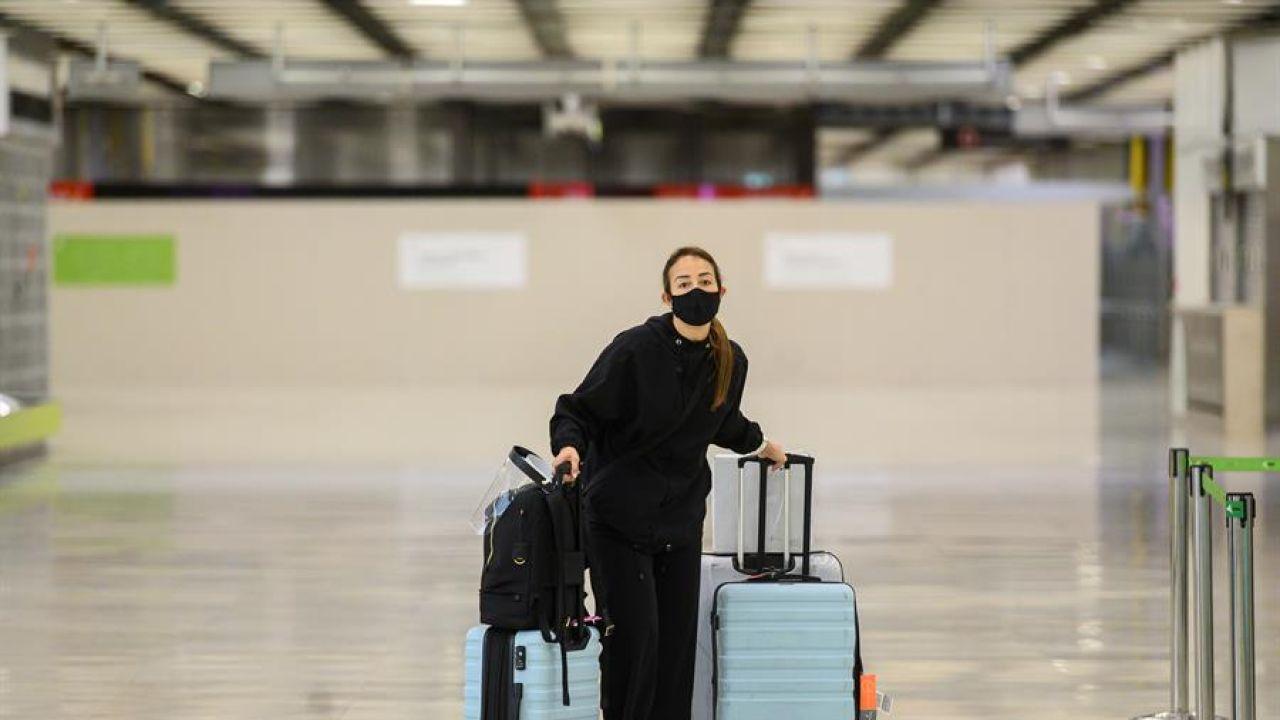 Llegada de viajeros al aeropuerto