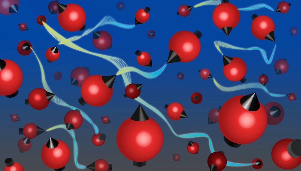 Entrelazamiento caliente y desordenado con billones de atomos