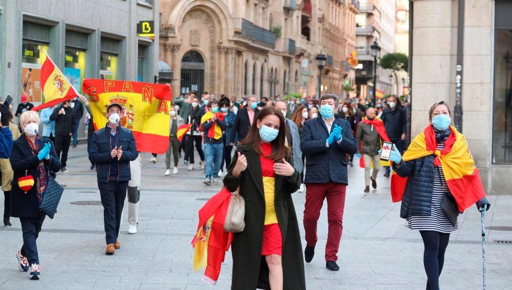 Imagen de la manifestación contra el Gobierno de Pedro Sánchez en Madrid