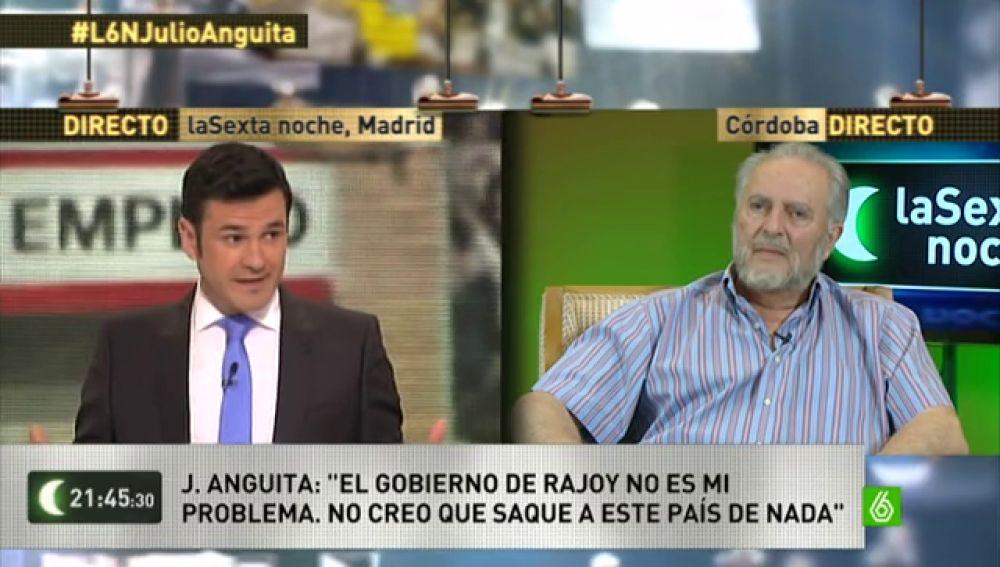 """Anguita: """"Cuando un país tiene el 67% de paro juvenil, ese país no tiene ningún futuro"""""""