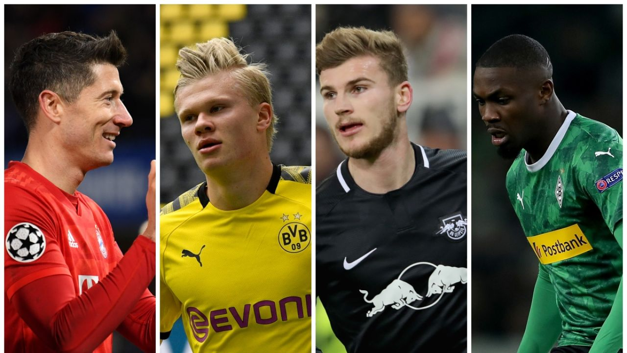 Lewandowski, Haaland, Werner y Thuram