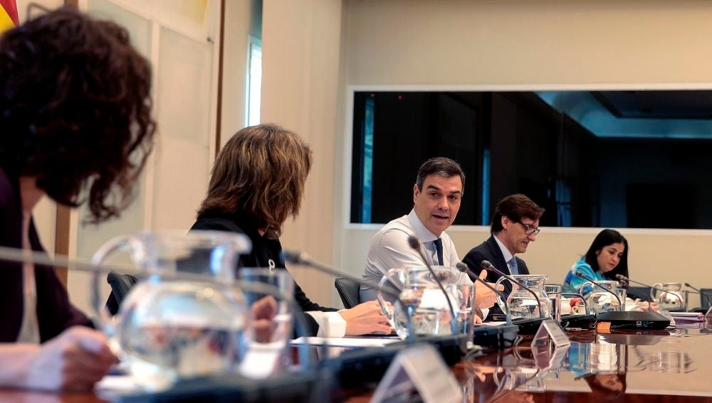 Pedro Sánchez, durante la décima reunión con los presidentes autonómicos