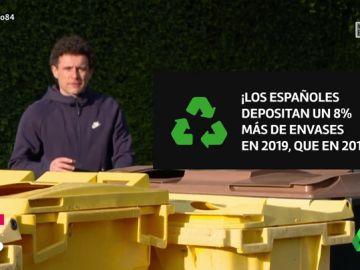 España, comprometida con el reciclaje: los españoles depositan un 8% más de envases en 2019 que en 2018