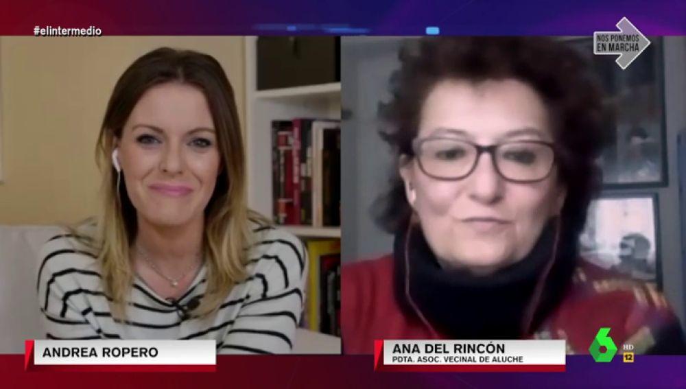 Ana del Rincón, Asociación Vecinal de Aluche