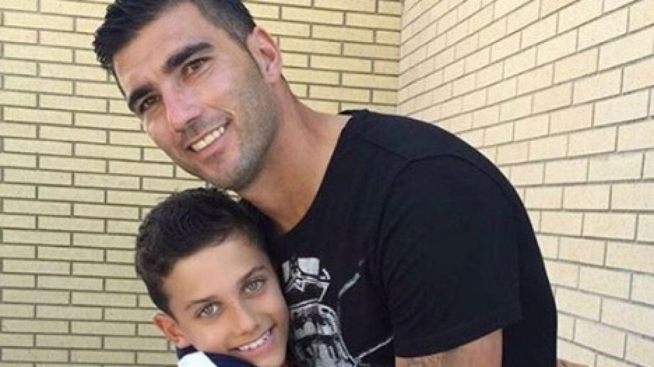 José Antonio Reyes, padre e hijo.