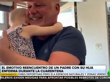 Se reencuentra con su hija enferma de leucemia tras aislarse voluntariamente durante cuatro meses por el coronavirus