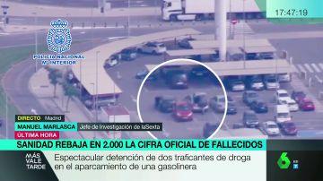 Espectacular detención de dos traficantes de drogas en un aparcamiento de Torrent, Valencia