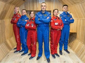 La tripulación para la misión que duró cuatro meses