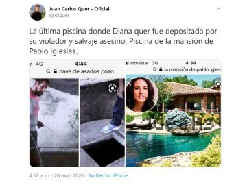 Polémico tuit de Juan Carlos Quer