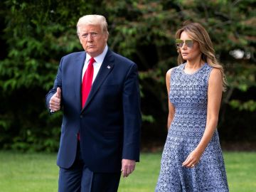 Donald Trump con su mujer Melania