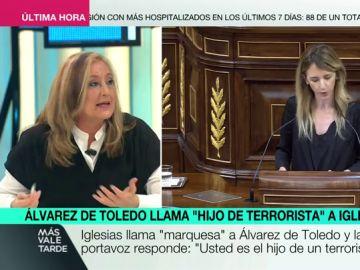 """El artículo de la Constitución que """"pone difícil"""" que Álvarez de Toledo sea condenada por llamar """"terrorista"""" al padre de Pablo Iglesias"""