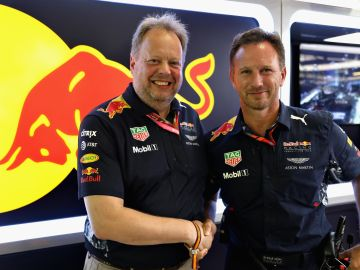 Andy Palmer y Christian Horner