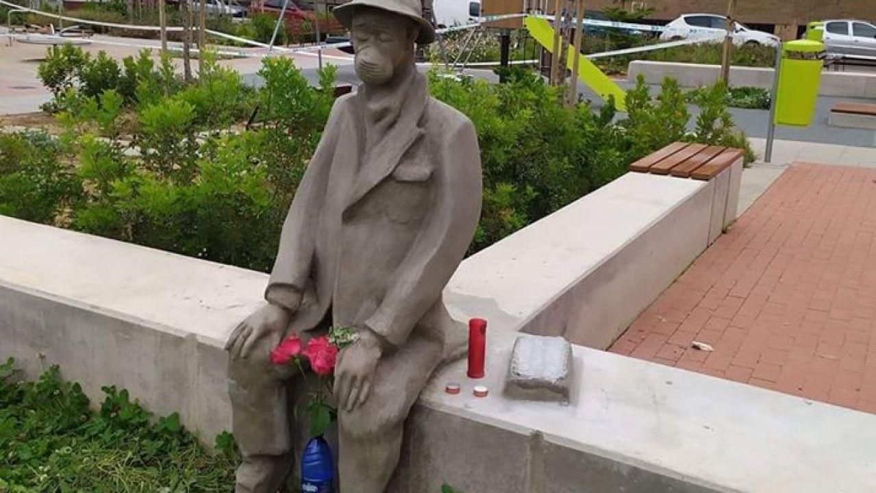 Arte urbano en homenaje a los ancianos fallecidos por coronavirus