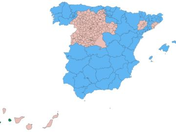 Mapa de la desescalada en España desde el 1 de junio