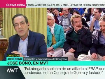 """José Bono defiende al padre de Iglesias tras haber sido su abogado en 1973: """"No recuerdo que aquel joven detenido fuera un terrorista"""""""