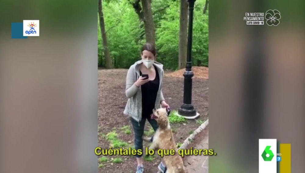 Una canadiense racista en Central Park pierde su empleo y su perro
