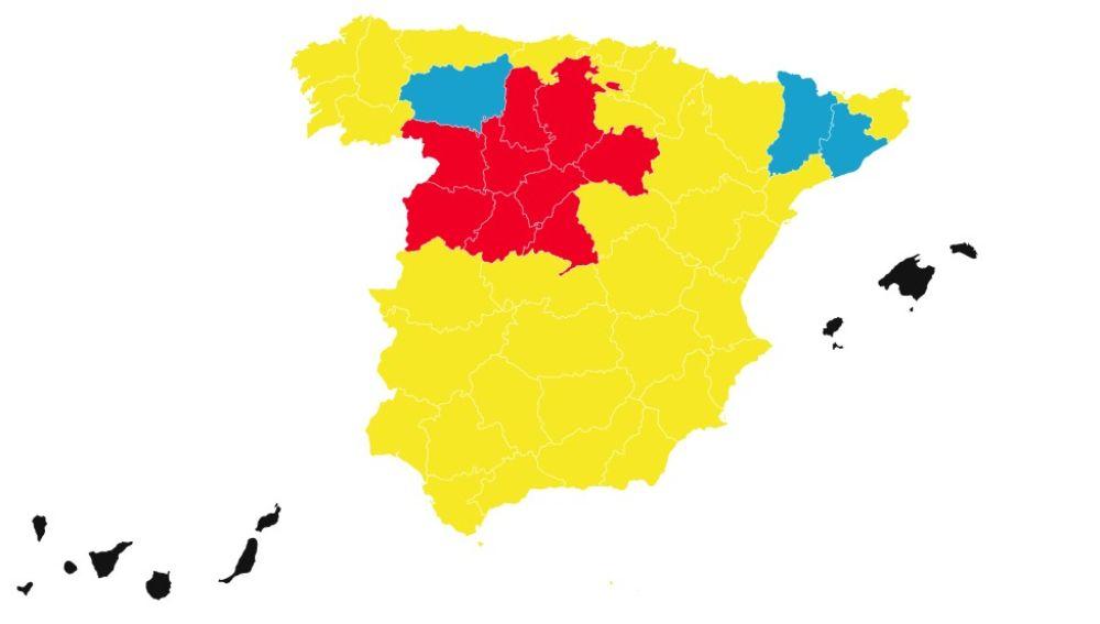 Mapa de la desescalada a partir del lunes 1 de junio