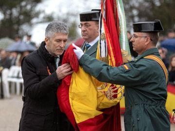 El ministro del Interior, Fernando Grande-Marlaska, en un acto de la Guardia Civil