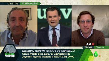 Josep Pedrerol y Martínez-Almeida charlan en laSexta Noche