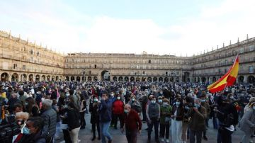 Imagen de la manifestación a favor de la tauromaquia en Salamanca