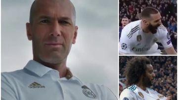 Zidane, con Benzema y Marcelo