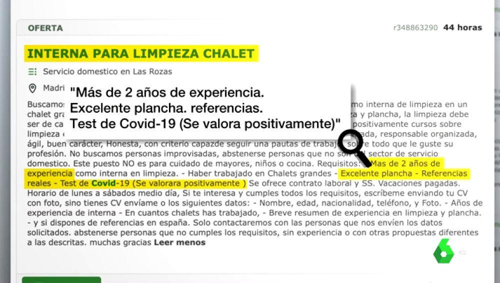 """""""Se busca interna libre de COVID-19"""": la precaria situación de las trabajadoras domésticas en tiempos de pandemia"""