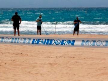 Imagen de las playas de Benidorm