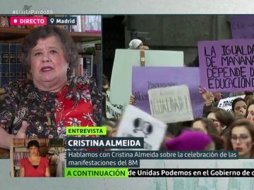 """La reflexión de Cristina Almeida tras el último asesinato machista: """"¿Podemos vivir en un país donde matar a tu mujer y a tus hijos es un comportamiento normal?"""""""