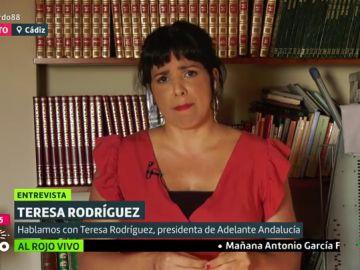 """Teresa Rodríguez, sobre Vox: """"Son herederos y nostálgicos del franquismo y de una dictadura asesina y criminal"""""""