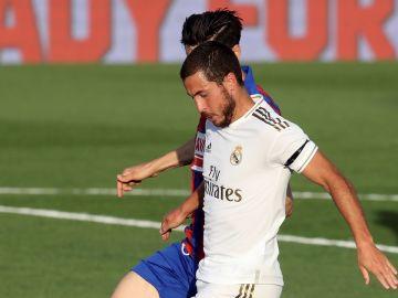 Eden Hazard, en una acción con el Real Madrid