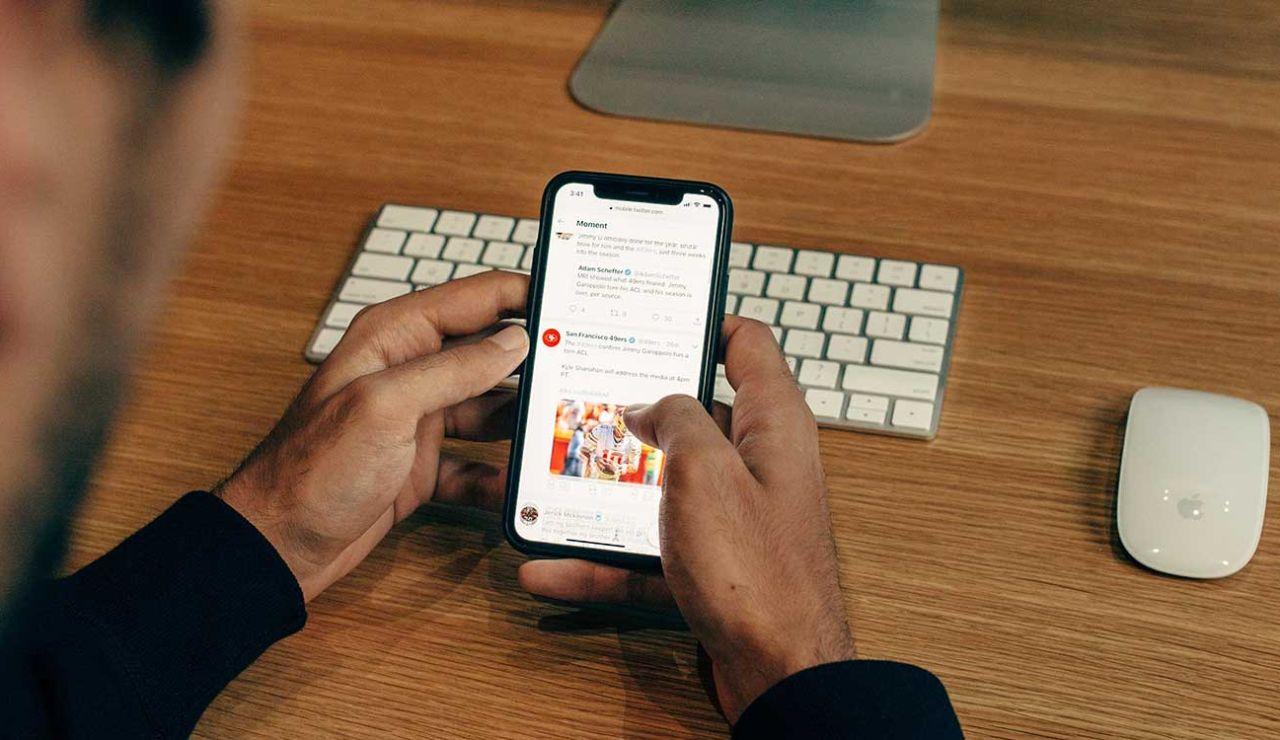 Twitter en un iPhone