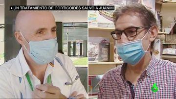 El corticoides con el que el doctor Callejas salvó a su mejor amigo: Juanmi, de los primeros pacientes en curarse gracias al fármaco
