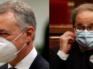 El lehendakari vasco, Iñigo Urkullu, y el president catalán, Quim Torra