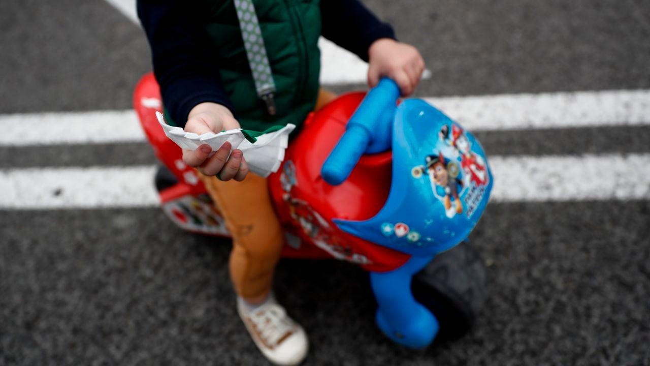 Imagen de archivo del cuerpo de un niño