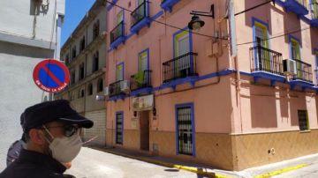 Hostal de Algeciras en el que se han detectado los tres casos de coronavirus