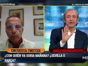 Cristóbal Soria explota y abandona 'El Chiringuito' en directo