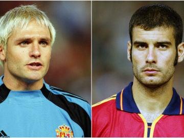 Santi Cañizares y Pep Guardiola