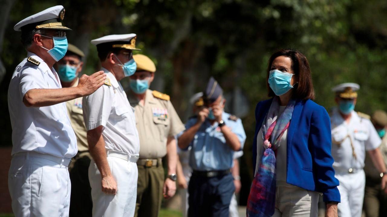 La Ministra de Defensa, Margarita Robles, preside un acto en la Base Militar de Retamar en Pozuelo de Alarcón