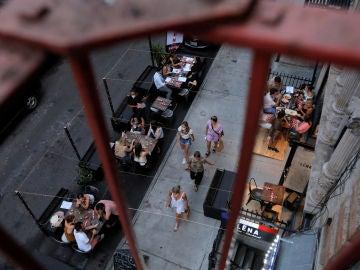 Imagen de una calle de Nueva York durante la pandemia