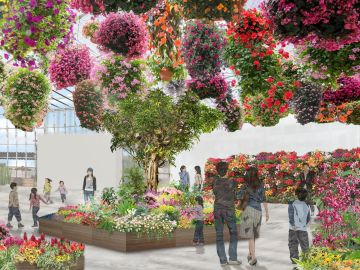Jardín virtual en Tokio