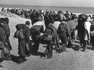 Refugiados republicanos en Francia en marzo de 1939