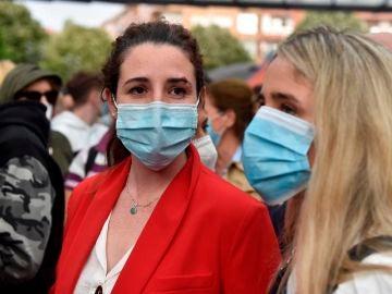 La diputada de Vox Rocío de Meer durante un mitin de la campaña.
