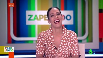 Ronda de chistes en Zapeando con lapsus incluido: así ha sido la risa floja de Lorena Castell en pleno directo