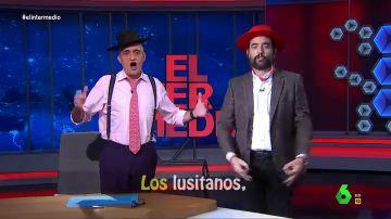 """La divertida """"muestra de arte español"""" de Wyoming y Dani Mateo para que los portugueses """"nos visiten en masa"""""""