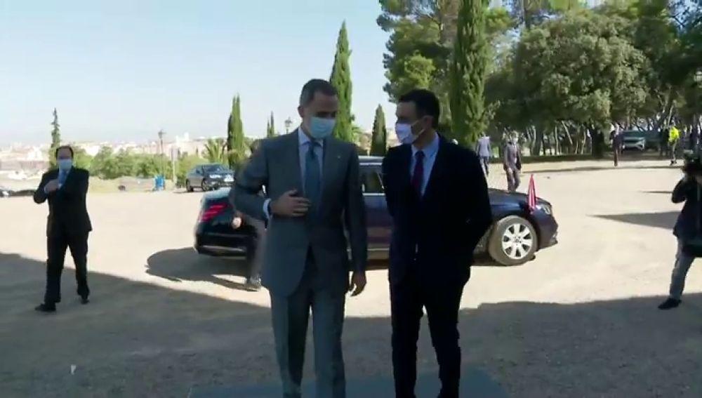 El rey y Pedro Sánchez acuden a la reapertura de la frontera con Portugal