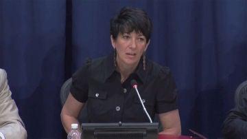 Ghislaine Maxwell, durante una intervención en las Naciones Unidas en el año 2013